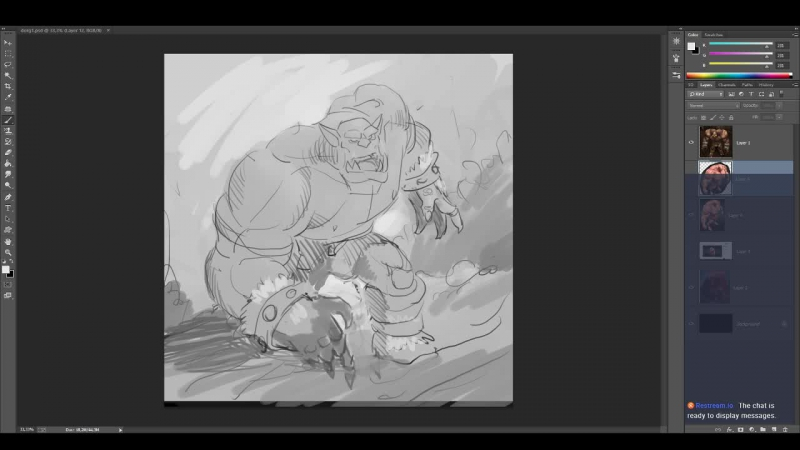 Warcraft Fan Art Dorg the bloody Live Day 1