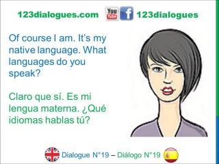 Dialogue 19 - Inglés Spanish - What languages do you speak? - Qué idiomas hablas?