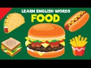 Learn Food Vocabulary Video Flash Cards ESL for Kids Fun Kids English