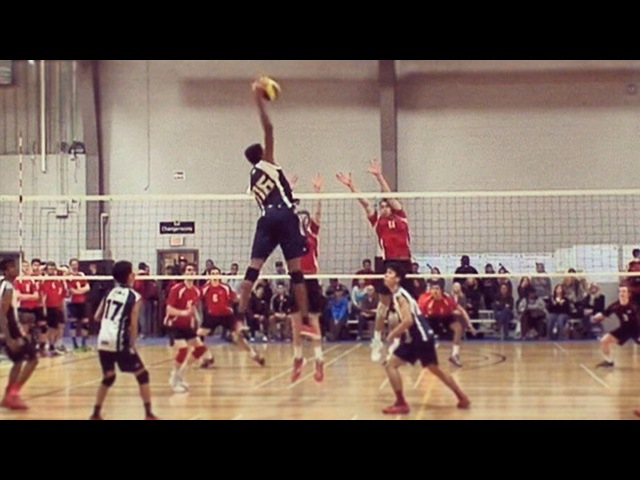 Daenan Gyimah - Volleyball Player Without Gravity   Crazy Jumps 372cm   Young King Volleyball (HD)
