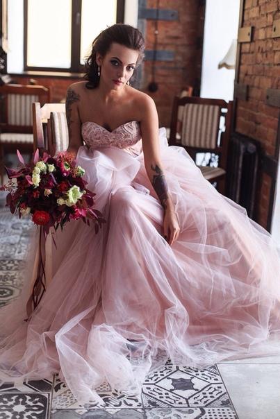 Платье свадебное цвета пудры фото самара