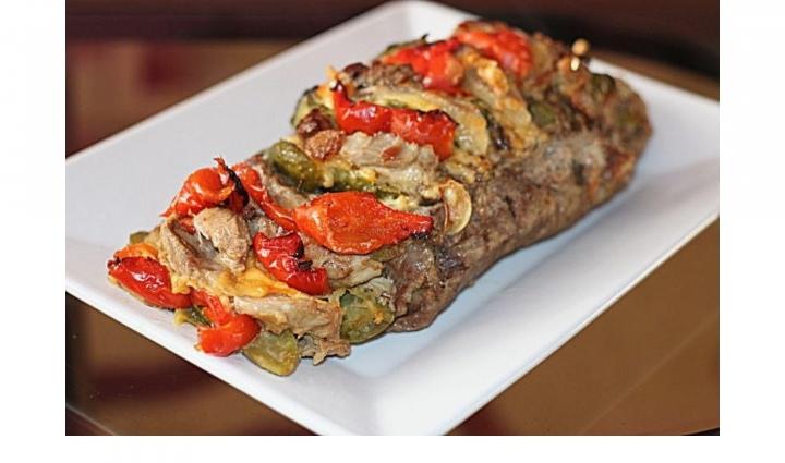 Запеченная свинина с сыром и овощами, изображение №4
