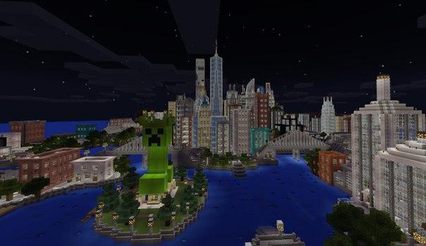 город в майнкрафте 0.13.0 #10