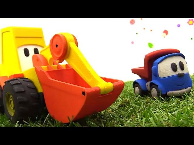 Leo Junior Ekskavatör Max ve Lifty değirmen yapıyorlar Çizgi film oyuncakları Türkçe izle