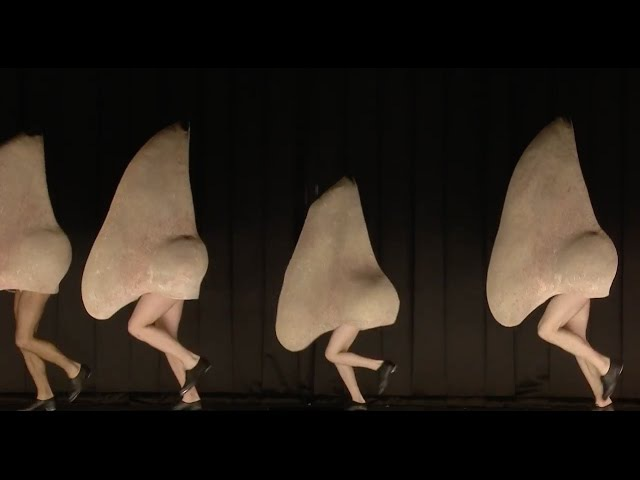 The giant tap dancing noses scene from Shostakovich's The Nose The Royal Opera