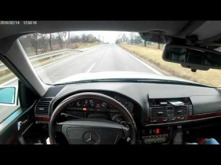 Mercedes Benz W140 300TD Driving with my  to sleep in Mercedes try 11:30min