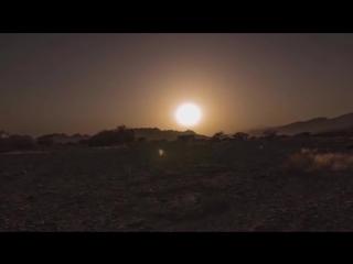 Плоская Земля - Солнце удаляется в пустыне, где нет влажности и эффекта линзы