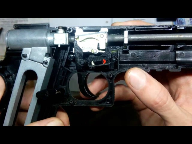 Устройство пневматического пистолета Gletcher cst 304 BORNER Power win 304