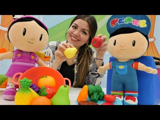 Pepe ve Şila sağlıklı yiyecekleri öğreniyorlar