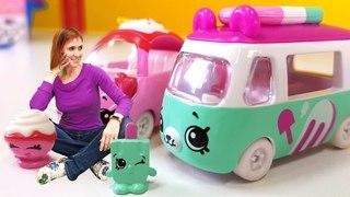Видео для девочек - Маша капуки кануки и Шопкинс машинки