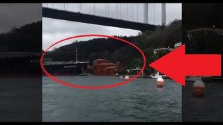 Cargo Ship Hits Mansion House & Destroys In Istanbul Bosphorus Turkey
