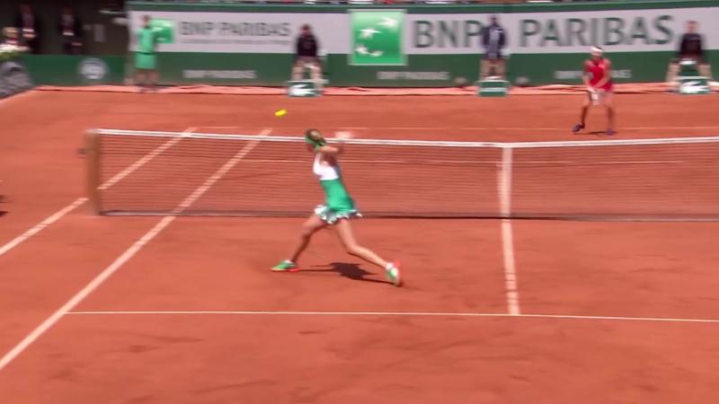 Kristina Mladenovic v Timea Bacsinszky Highlights Womens Quarterfinals 2017