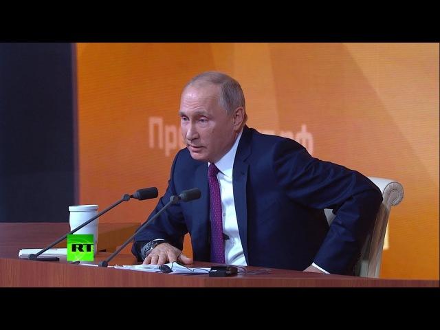 О российской армии Путин рассказал анекдот про кортик и часы