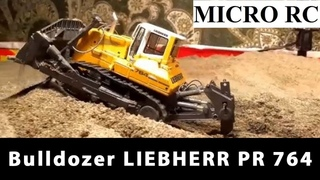 MICRO RC Bulldozer LIEBHERR PR 764 Litronic MICRO RC Model by NZG Scale 1:50 TEST DRIVE