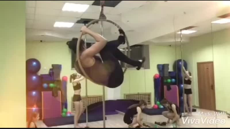 ТРЕНИРОВКА по воздушной акробатике: pole sport воздушное кольцо и возлушные полотна