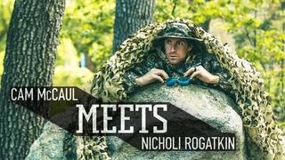 MTB Legend Cam McCaul meets up with Nicholi Rogatkin.   McCaul Meets