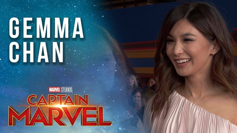 Gemma Chan (Minn-Erva) talks Captain Marvel LIVE from the Red Carpet!