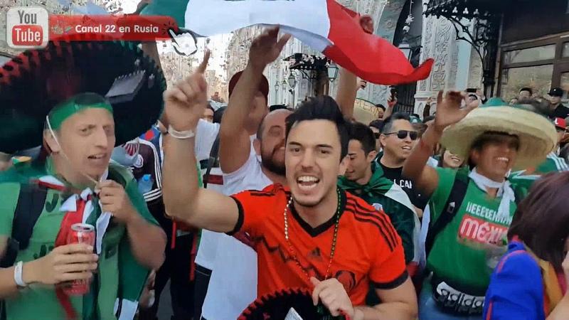 Mexicanos provocan a la barra argentina en Moscú y sucede esto