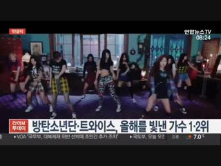 181219 [yonhap news tv] @bts_twt topped korean gallups 2018 shiniest singers with their representative songs fake love, idol, an