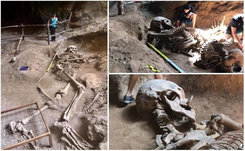 Уникальное открытие гигантского скелета в Таиланде - гиганта, возможно, убитого рогатой змеёй. 9zkjl6E9ATk