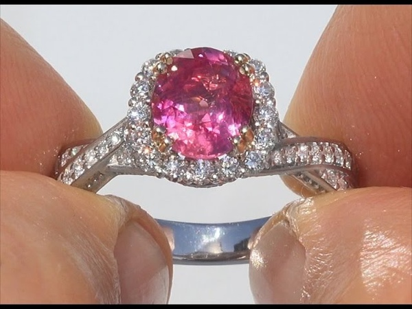 AIGS Certified UNHEATED Natural VS Red Ruby Diamond 14k White Yellow Gold Ring GEM C122