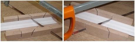 Как запилить потолочный плинтус: правильная обработка углов плинтуса, методы и инструменты, изображение №3