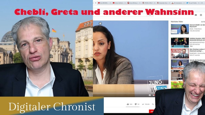 Ich spreche über Chebli Fussballfans und Greta die Prophetin