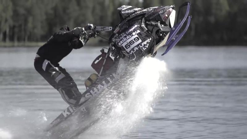 StuntFreaksTeam - Snowmobile On Water (Watercross).mp4