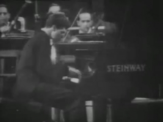 Van CLIBURN plays RACHMANINOV 3d Concerto VIDEO Moscow 1958