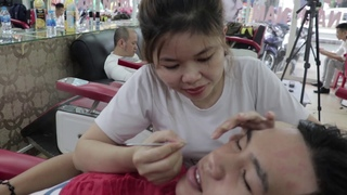 vietnam local hair salon full service massage 9$