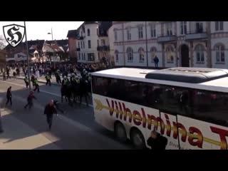 Hooligans fight _ helsingborgs vs djurgårdens