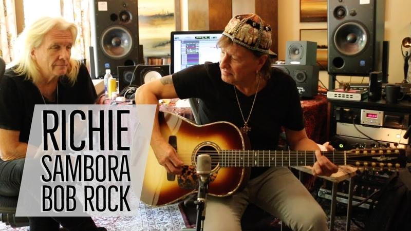 Richie Sambora Bob Rock with Norm at Richie's Home Studio Norman's Rare Guitars