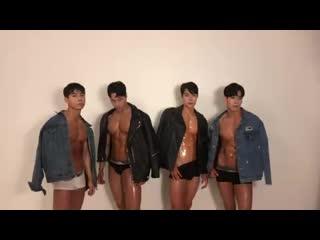 Asian muscle boys