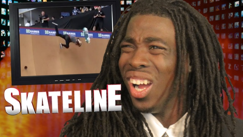 SKATELINE CJ Collins Pro Deedz Yuri Facchini Dubstep Trey Wood Vs Jake Brown Fall