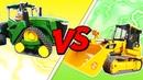 Видео про большие машинки для детей. Битва тракторов!
