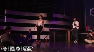 Waacking Semifinal 1 Ho Tung vs Miss Mini190217 OBS  Day2