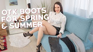 OTK BOOTS SPRING OUTFITS - Leather boots Fernando Berlin, NA-KD, Buffalo | Vanessa Pur