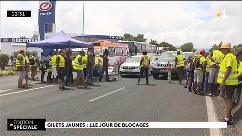 Barrage : Les Gilets jaunes à la Cocoteraie ont failli être délogés