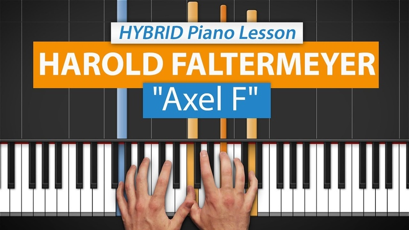 How To Play Axel F (from Beverly Hills Cop) by Harold Faltermeyer | HDpiano (Part 1) Piano Lesson