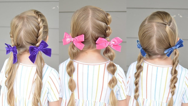 5 minute Back To School Pigtail Styles Q's Hairdos