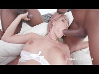 Waka waka, blacks are coming florane russell gets 4 bbc balls deep anal dp gapes