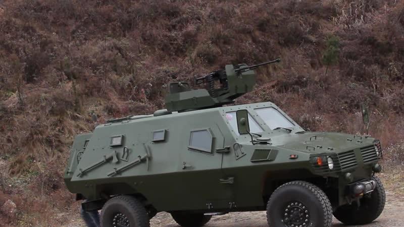 Испытание бронеавтомобиля Shaanxi Baoji Wolf 4x4