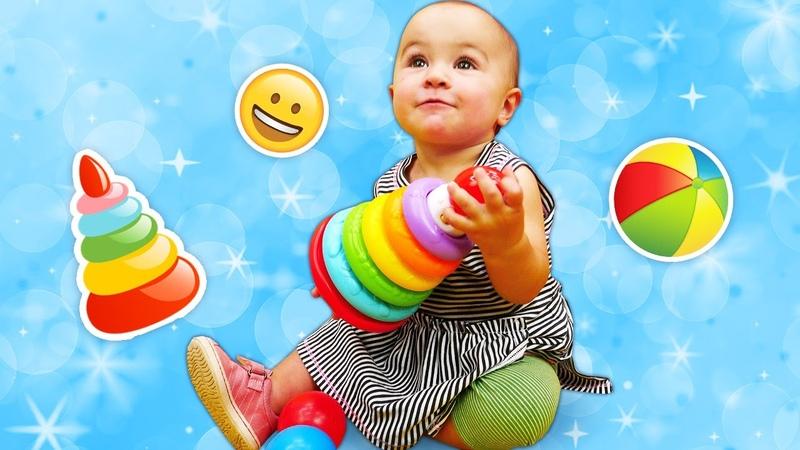 Die Spielzeugkiste Leo der Lastwagen baut eine Pyramide Video für Kleinkinder