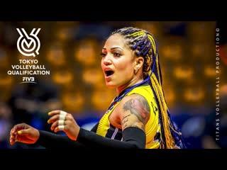 Brenda Castillo Amazing Volleyball Libero UNBELIEVABLE DIGS Womens Volleyball FIVB OQT 2019