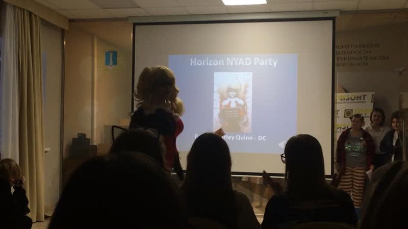 Horizon NYAD Party Poltos Harley Quinn DC