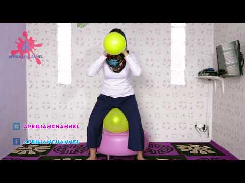 Challenge TIUP DUDUKIN balloon kuning - Blow SIT TO POP yellow balloon CHALLENGE