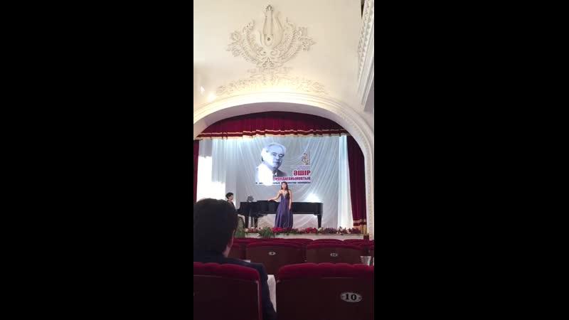 ІІІ место Абдуллаева Жадыра - А.Молдагаинов. Ария Айши из оперы Айша Бибі-Қарахан