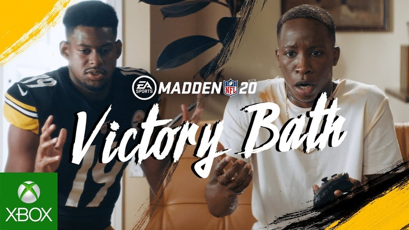 Madden NFL 20 Victory Bath ft JuJu Smith Schuster