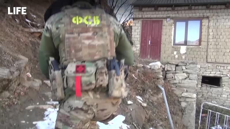 ФСБ показала видео с места задержания финансистов ИГИЛ в Дагестане