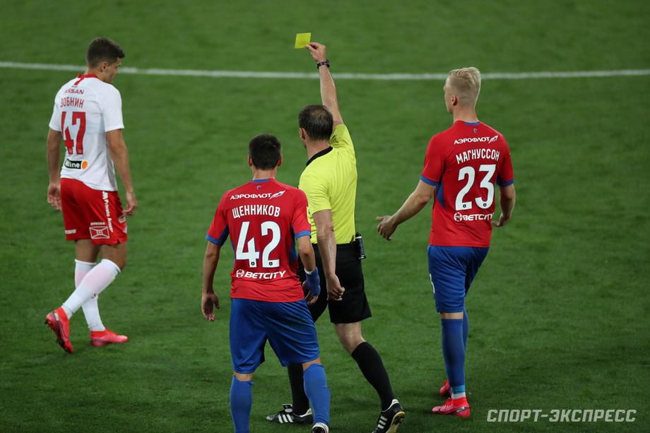 Роман Зобнин, матч с ЦСКА (0:2)